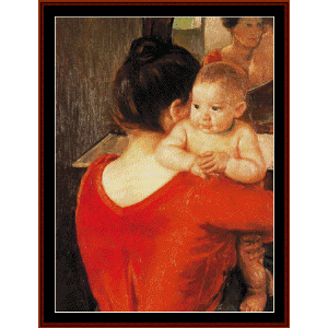 mother and child, 1900 - cassatt cross stitch pattern by cross stitch collectibles
