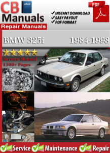 bmw 325i 1984-1998 service repair manual