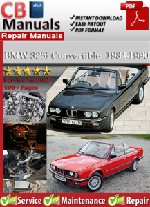bmw 325i convertible 1984-1990 service repair manual