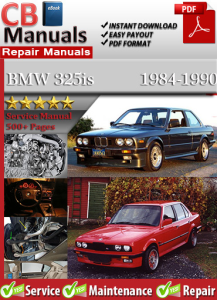 bmw 325is 1984-1990 service repair manual