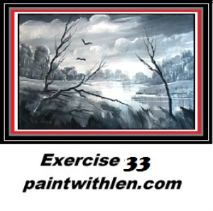 33 paint in black and white
