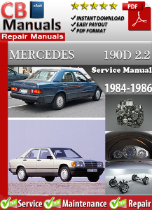 mercedes 190 d 2.2 1984-1986 service repair manual