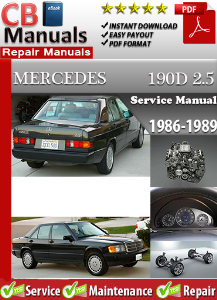 mercedes 190 d 2.5 1986-1989 service repair manual