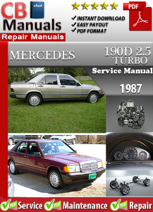 mercedes 190 d turbo 2.5 1987 service repair manual
