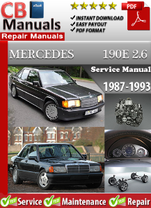 mercedes 190 e 2.6 1987-1993 service repair manual