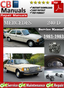 mercedes 240d 1981-1983 service repair manual