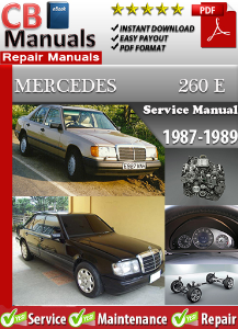 mercedes 260e 1987-1989 service repair manual