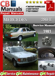 mercedes 280e 1981 service repair manual