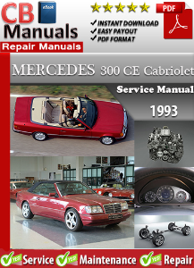 mercedes 300ce cabriolet 1993 service repair manual