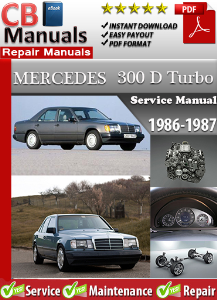 mercedes 300d turbo 1986-1987 service repair manual