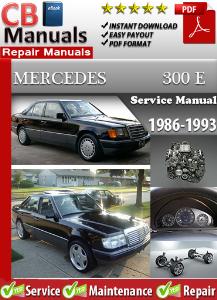 mercedes 300e 1986-1993 service repair manual