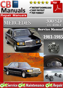 mercedes 300sd turbo 1981-1985 service repair manual