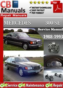 mercedes 300se 1988-1993 service repair manual