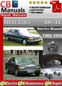 mercedes 300sel 1988-1991 service repair manual