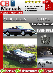 mercedes 300sl 1990-1993 service repair manual