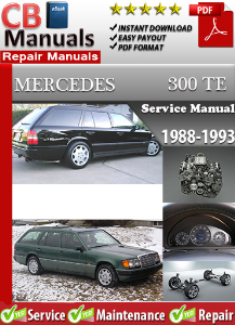 mercedes 300te 1988-1993 service repair manual
