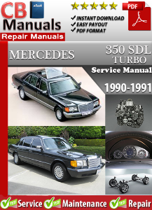 mercedes 350sdl turbo 1990-1991 service repair manual