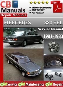 mercedes 380sel 1981-1983 service repair manual