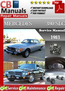mercedes 380slc 1981 service repair manual