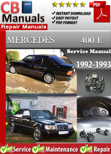 mercedes 400e 1992-1993 service repair manual