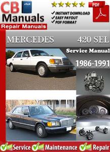 mercedes 420sel 1986-1991 service repair manual