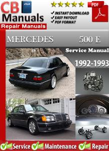 mercedes 500e 1992-1993 service repair manual