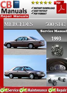 mercedes 500sec 1993 service repair manual