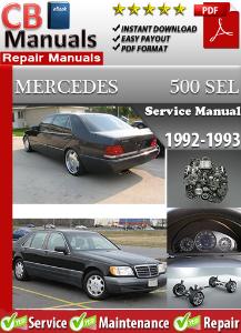 Mercedes 500SEL 1992-1993 Service Repair Manual | eBooks | Automotive