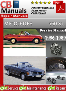 Mercedes 560SL 1986-1989 Service Repair Manual | eBooks | Automotive
