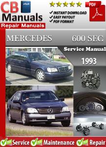 mercedes 600sec 1993 service repair manual