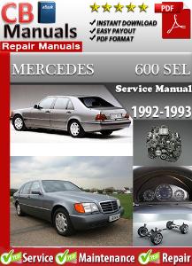 mercedes 600sel 1992-1993 service repair manual