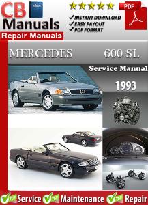 mercedes 600sl 1993 service repair manual