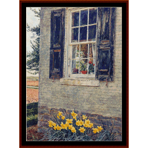 Grace's Window - Americana cross stitch pattern by Cross Stitch Collectibles | Crafting | Cross-Stitch | Wall Hangings