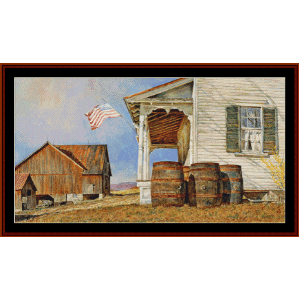 Mountain Air - Americana cross stitch pattern by Cross Stitch Collectibles | Crafting | Cross-Stitch | Wall Hangings