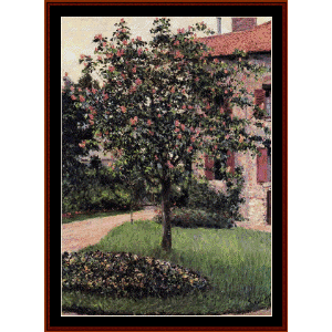 Petit Gennevilliers Facsade -Caillebotte cross stitch pattern by Cross Stitch Collectibless | Crafting | Cross-Stitch | Wall Hangings