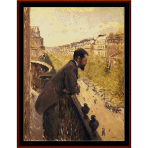 Man on Balcony II - Caillebotte cross stitch pattern by Cross Stitch Collectibles | Crafting | Cross-Stitch | Other