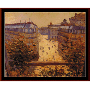 Rue Halevy, Balcony - Caillebotte cross stitch pattern by Cross Stitch Collectibles | Crafting | Cross-Stitch | Other