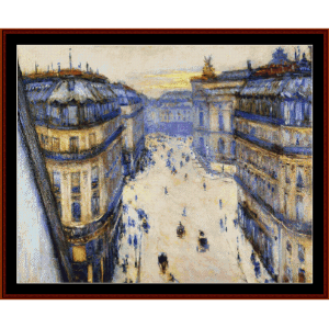 Rue Halevy, from 6th Floor - Caillebotte cross stitch pattern by Cross Stitch Collectibles | Crafting | Cross-Stitch | Wall Hangings
