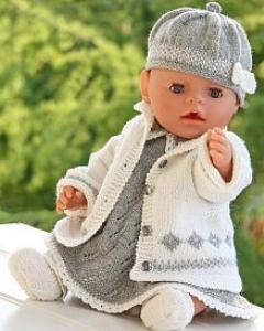 DollKnittingPatterns - 0076D KATJA - Kjole, Truse, Utejakke, Sokker og Lue (Norsk) | Crafting | Knitting | Other