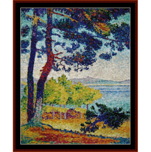 Afternoon at Pardigon - H.E. Cross cross stitch pattern by Cross Stitch Collectibles | Crafting | Cross-Stitch | Wall Hangings