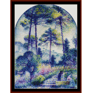 Garden in Provence - H.E. Cross cross stitch pattern by Cross Stitch Collectibles | Crafting | Cross-Stitch | Wall Hangings