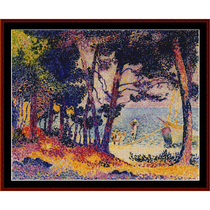 a pine wood in provence - h.e. cross cross stitch pattern by cross stitch collectibles