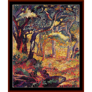 the clearing - h.e. cross cross stitch pattern by cross stitch collectibles