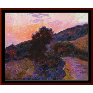 sunset at giverny - monet cross stitch pattern by cross stitch collectibles