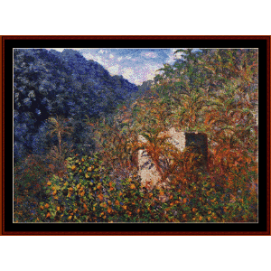 Valley of Sasso, Blue Effect - Monet cross stitch pattern by Cross Stitch Collectibles | Crafting | Cross-Stitch | Other