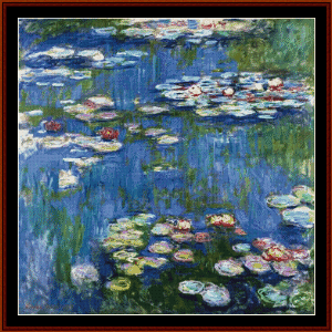 Waterlilies, 1916 - Monet cross stitch pattern by Cross Stitch Collectibles | Crafting | Cross-Stitch | Wall Hangings