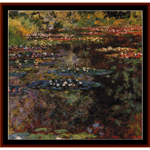 Waterlilies, 1904 - Monet cross stitch pattern by Cross Stitch Collectibles | Crafting | Cross-Stitch | Floral