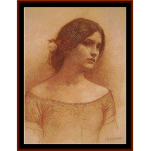 study for the lady clare - waterhouse cross stitch pattern by cross stitch collectibles