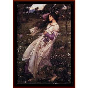 windflowers, 1902 - waterhouse cross stitch pattern by cross stitch collectibles