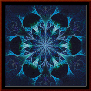 fractal 451 cross stitch pattern by cross stitch collectibles